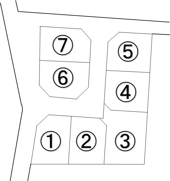竹田分譲地 区画図面